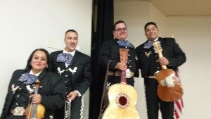 Mariachis at CVPOA Christmas party, 2014